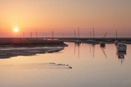 Sunrise over Wells Quay, Norfolk