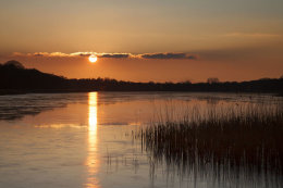Sunset Ormesby Broad, Norfolk