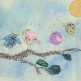 More Little Birds (textiles)