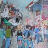 Street scene 1 Pastel & Collage