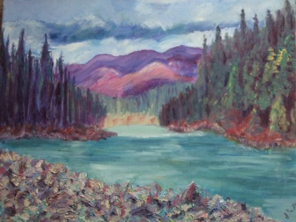 Linda Sadler:<br><I>Glacial River British Colombia</I>