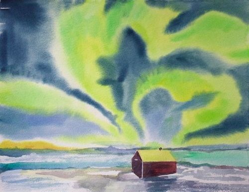 Janet Waters:<br><I>Northern Lights, Norway</I>