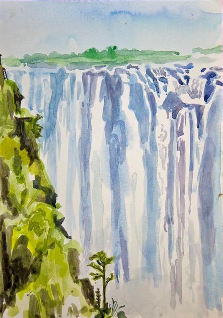 Janet Waters:<br><I>The Victoria Falls, Zimbabwe (2)</I>