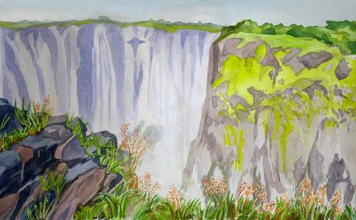 Janet Waters:<br><I>The Victoria Falls, Zimbabwe (1)</I>