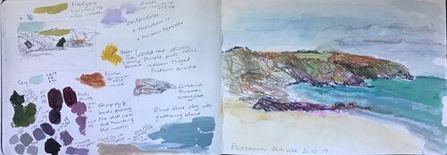 Lynne Francis - Pencarnan Porthselau (Sketchbook)