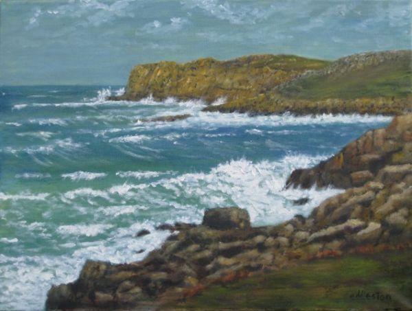 Richard Eddleston:<br><I>Stormy Seas - Bryher</I>