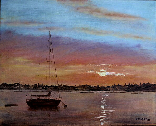 Richard Eddleston:<br><I>Wells Harbour Sunrise</I>