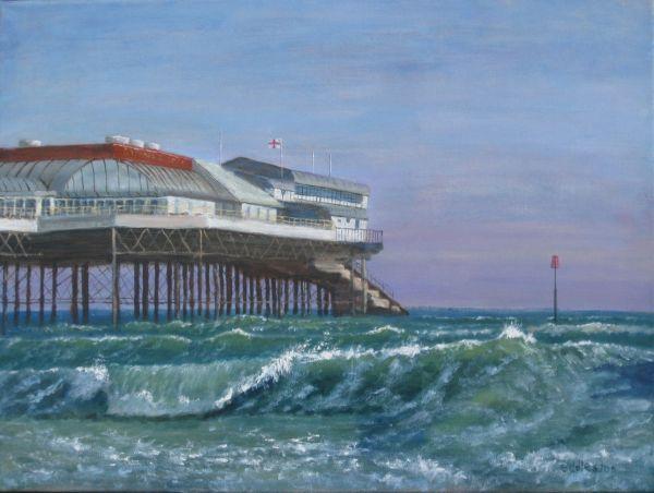 Richard Eddleston:<br><I>Winter Seas - Cromer </I>