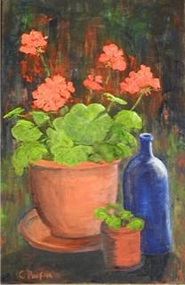 Cathy Parfitt:<br><I>Geraniums</I>