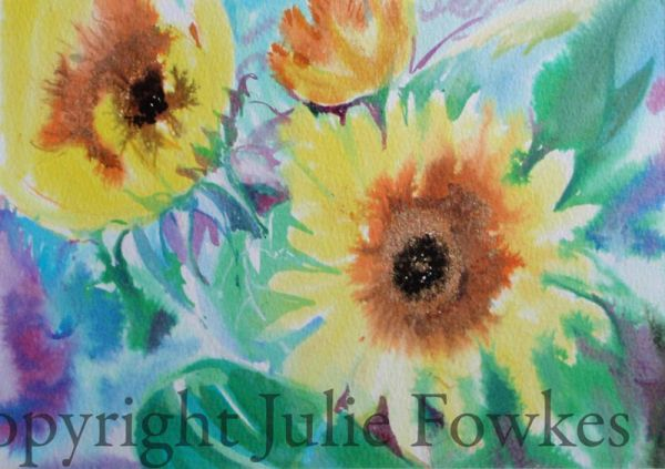 Julia Fowkes:<br><I>Sunflowers </I>