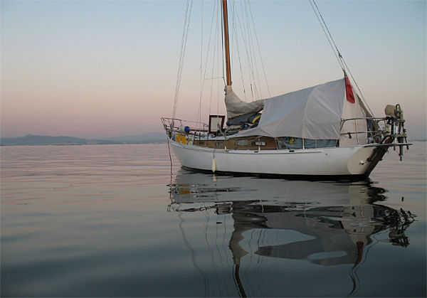"""""""Brillig"""" our 31' steel yacht"""