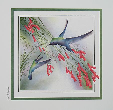 """Humming Birds 9""""x9"""""""