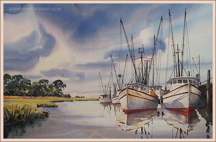"""Shrimpers 14""""x22"""""""