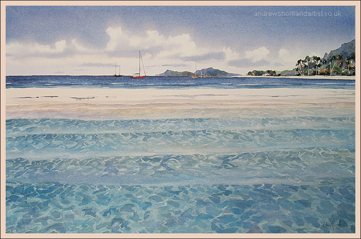 """St Kitts and Nevis 14""""x22"""""""