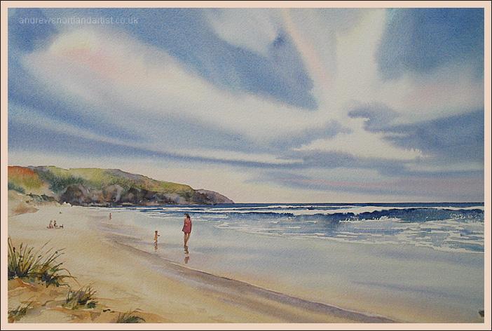 "Woolacombe Beach 14""x22"""