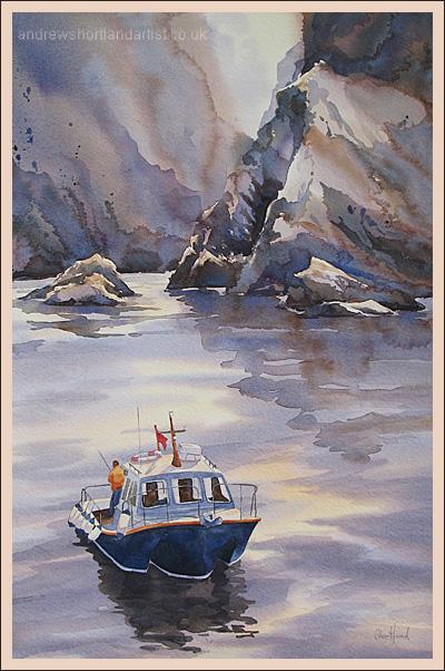 """North Devon Cliffs 14""""x22"""""""