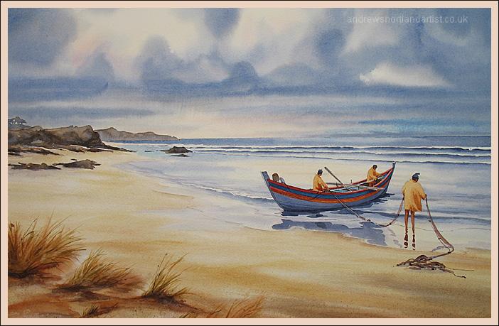 """Algarve Fishermen 14""""x21"""""""