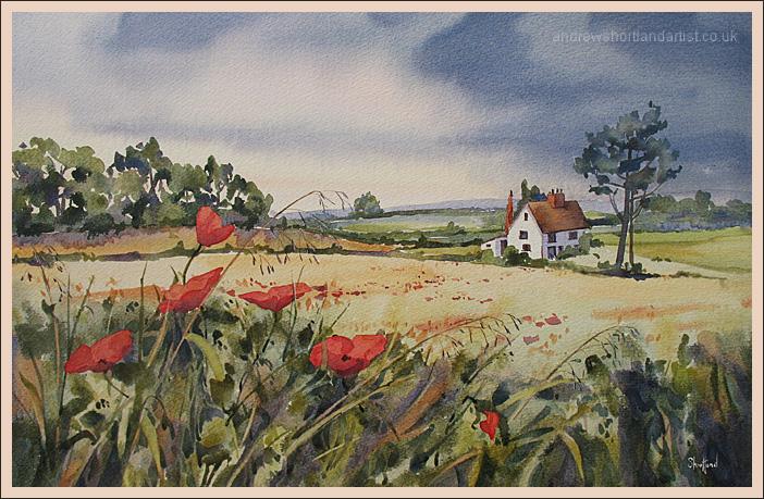 "Old Barn Cottage 14""x22"""