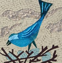 BLUE BIRD MOSAIC£190 incl. p&p</br