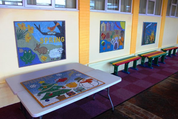 Four Seasons School Mosaics
