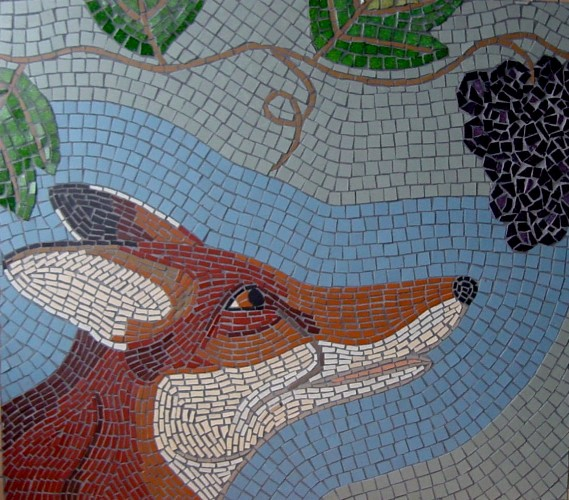 FOX AND GRAPES MOSAIC