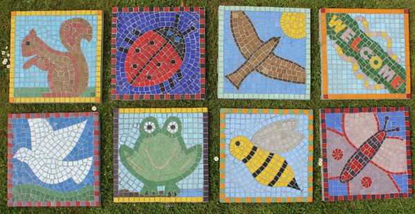 Paving slab school mosaics