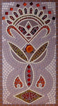 INDIAN TRIBAL RELIEF MOSAIC£250 incl. p&p