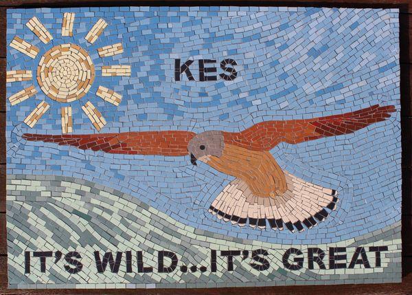 Barnsley Metropolitan Borough Council mosaic commission - Kes