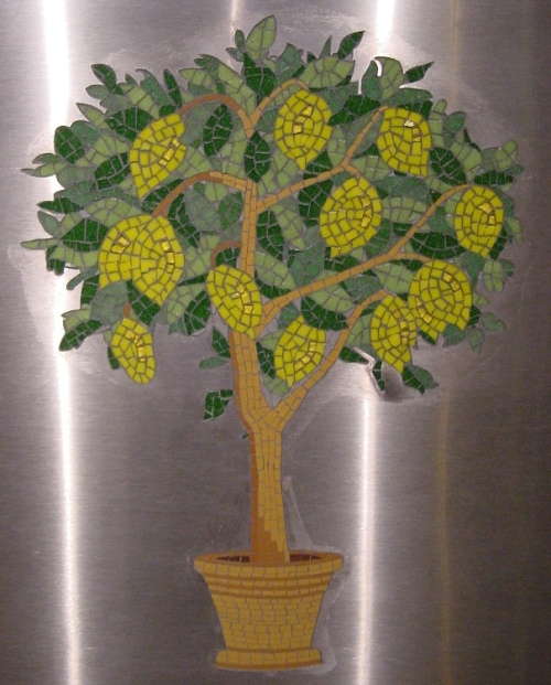 Lemon Tree Restaurant mosaic commission, mosaic commission, sue kershaw