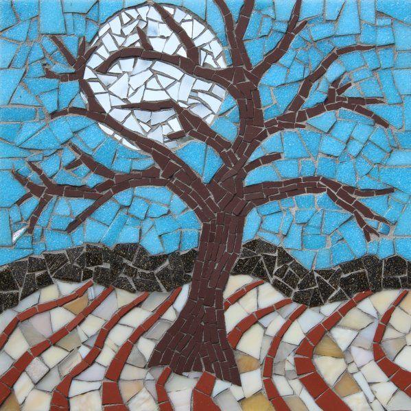 Moonlit Tree Mosaic MOSAIC £190