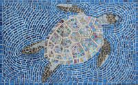 Mosaic sea turtle (Not for sale)
