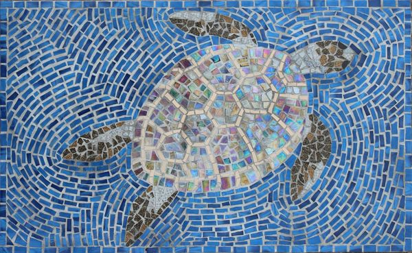 Turtle mosaic commission for private garden