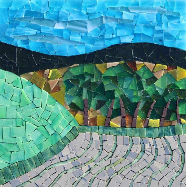 OVER THE HILL MOSAIC £190
