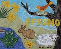 Four Seasons Spring School Mosaic