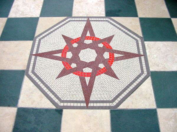Conservatory floor mosaic commission for private home