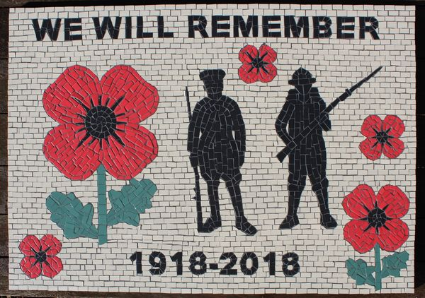 Barnsley Metropolitan Borough Council mosaic commission - WW1 commemoration
