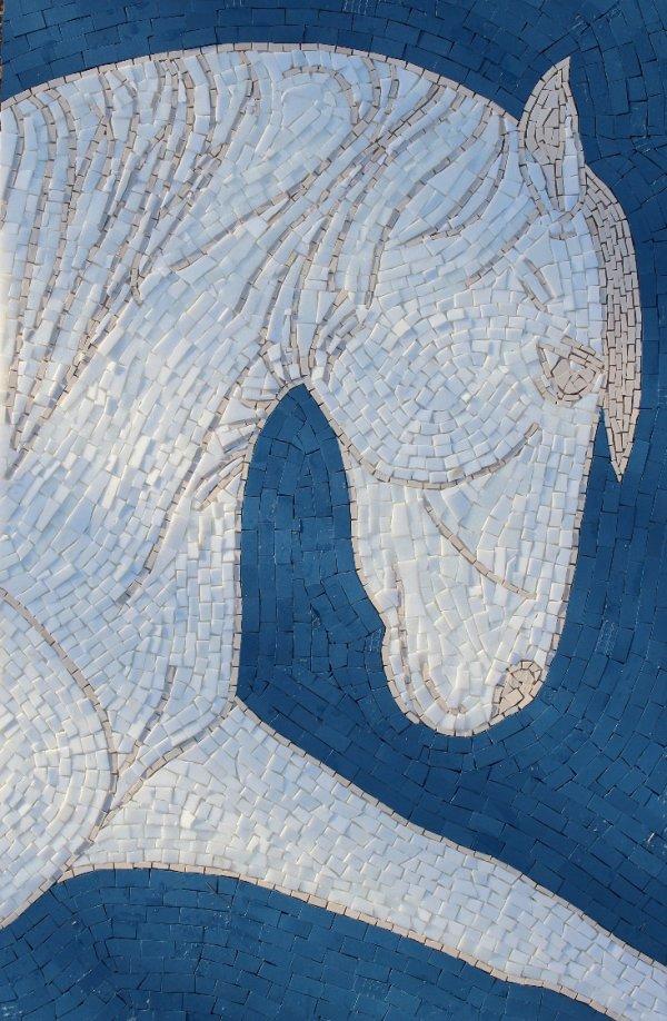 WHITE HORSE MOSAIC