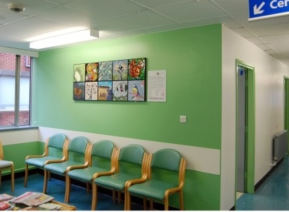 York Hospital mosaics in Outpatients Department Waiting Room