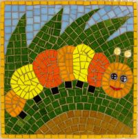 Caterpillar school mosaic