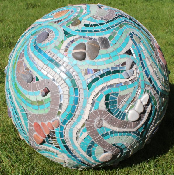 3D Mosaic Sphere for Burton Agnes Hall Artist in Residence August 2018