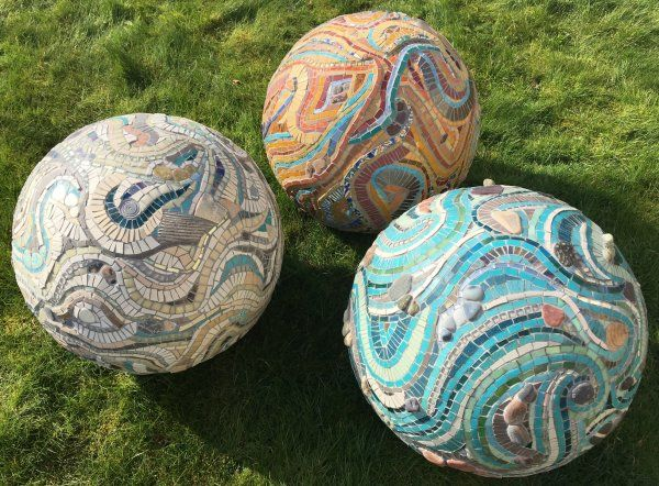 3D Mosaic Spheres for Burton Agnes Hall Artist in Residence August 2018