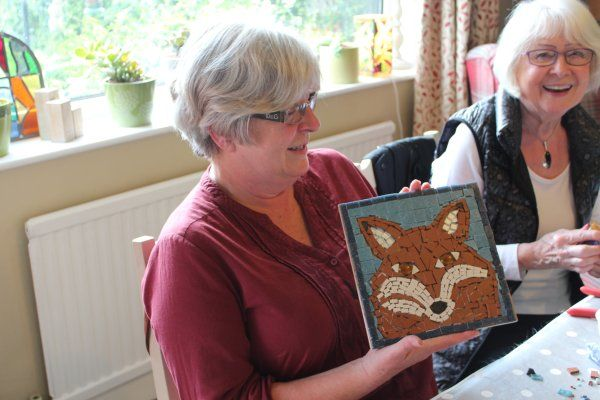 Introductory mosaic workshop at my home studio near York