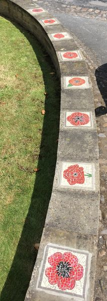 Poppy mosaics public art commission