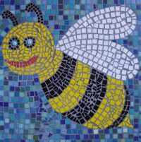 Bee school mosaic