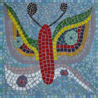 Butterfly school mosaic
