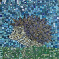 Hedgehog school mosaic