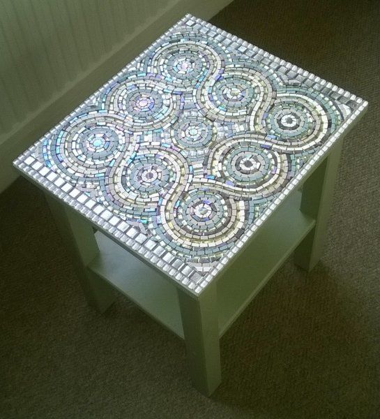 Guilloche Mosaic Table