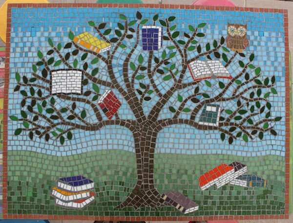School library mosaic