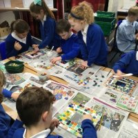 Roman mosaic school workshop
