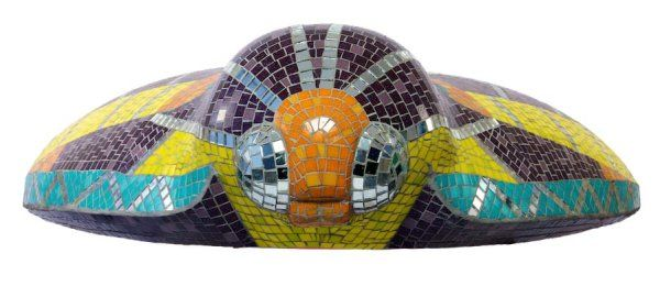 Mosaic commission 'A Moth for Amy'